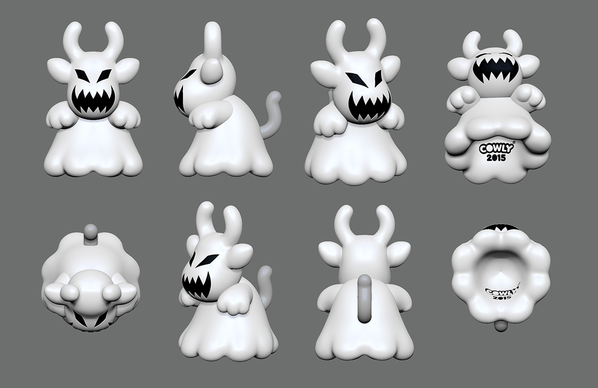 Ghost Cowly 2015 Zbrush Digital sculpt