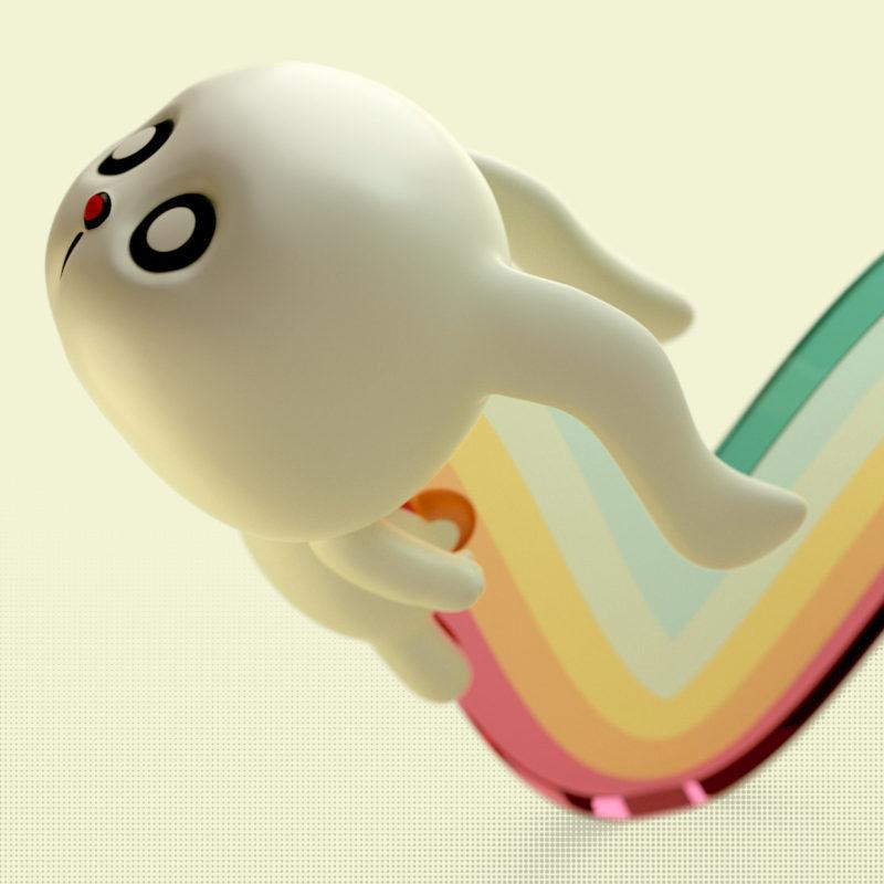 Bunny 3D render by QuailStudio