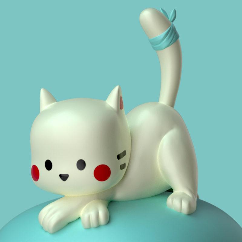 Bunzo & Cat 3D render 3D Render by QuailStudio