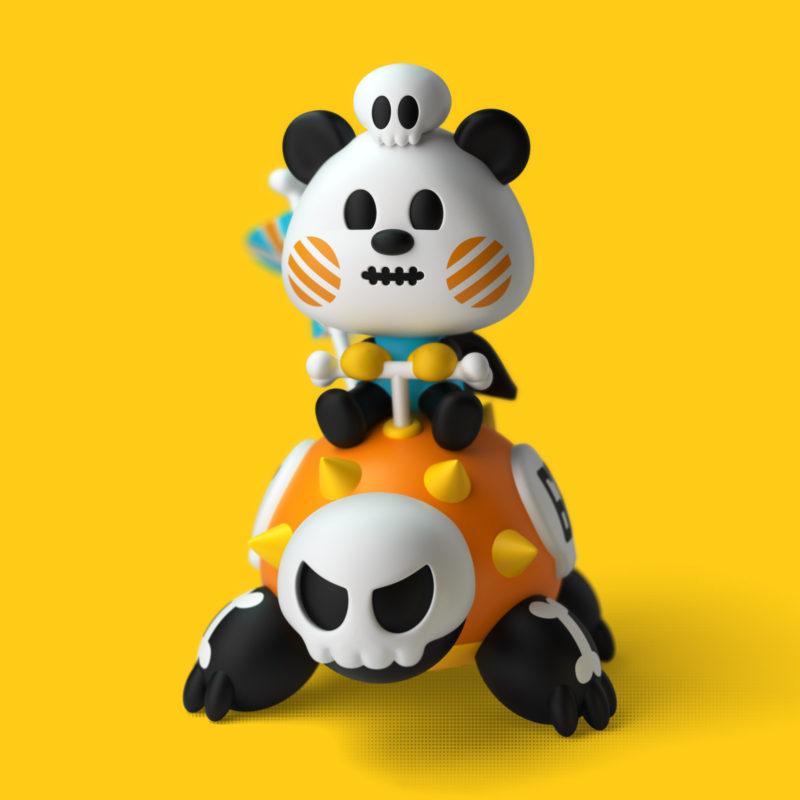 Lam Junior & Turtly 3D Render by QuailStudio