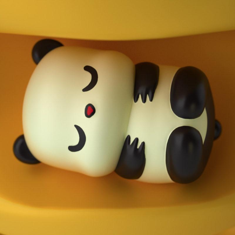 Panda 3D Render by QuailStudio