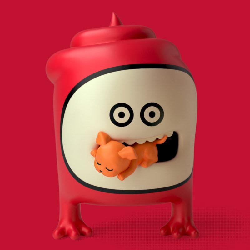 Papacho & Puppy 3D render by QuailStudio