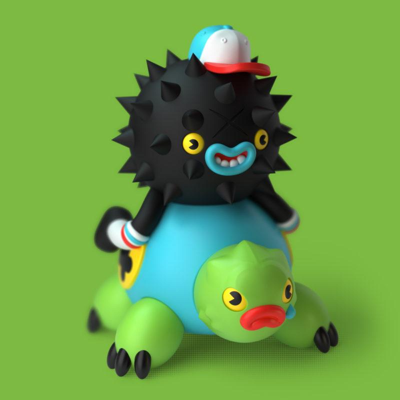 Picos & Turtly 3D Render by QuailStudio