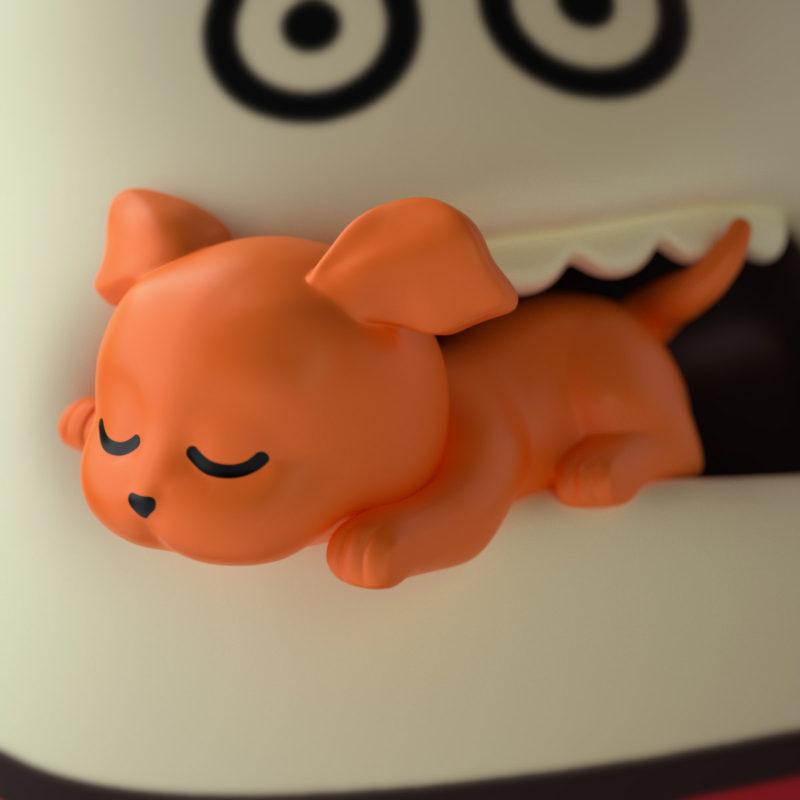 Puppy 3D render by QuailStudio