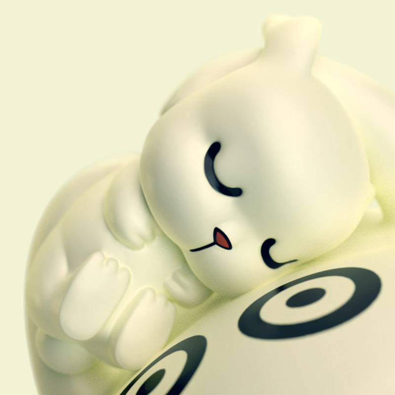 Kurimu & Bunny 3D render by QuailStudio