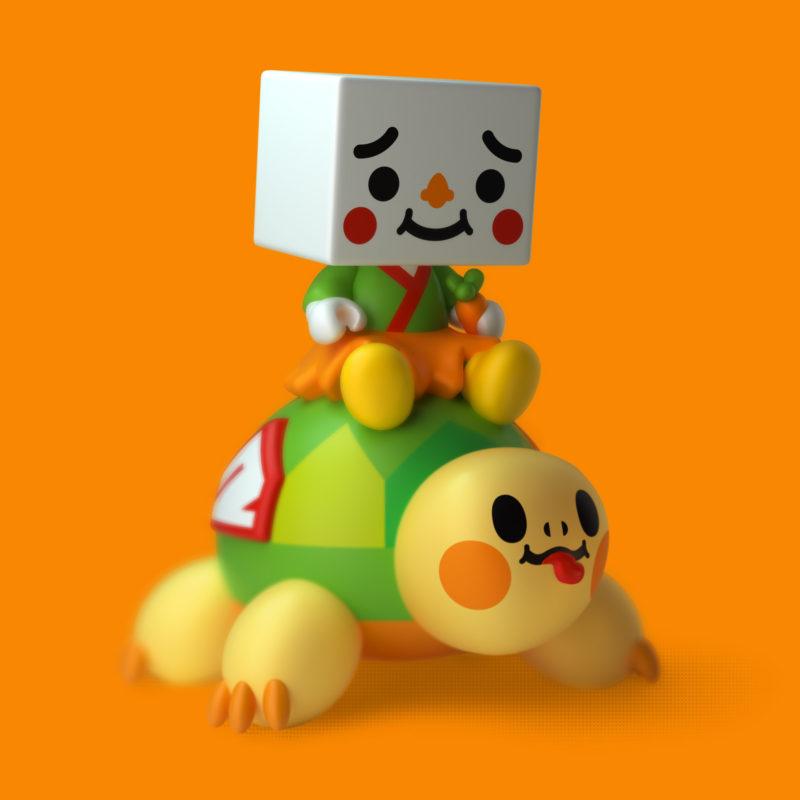 TO-FU Oyako & Turtly 3D Render by QuailStudio