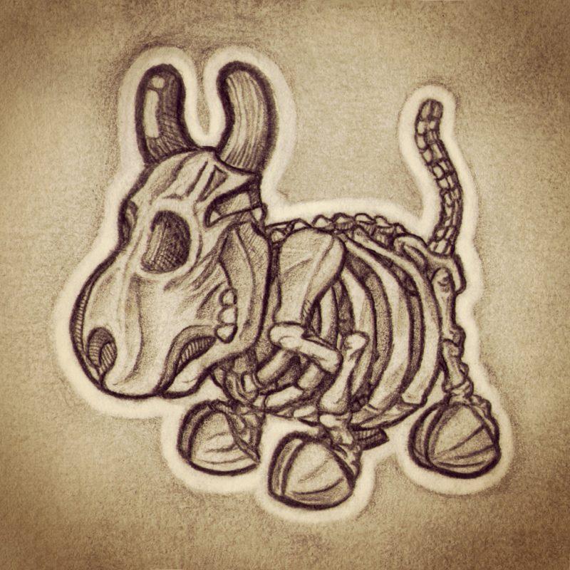 Cowly Skeleton sketch by QuailStudio