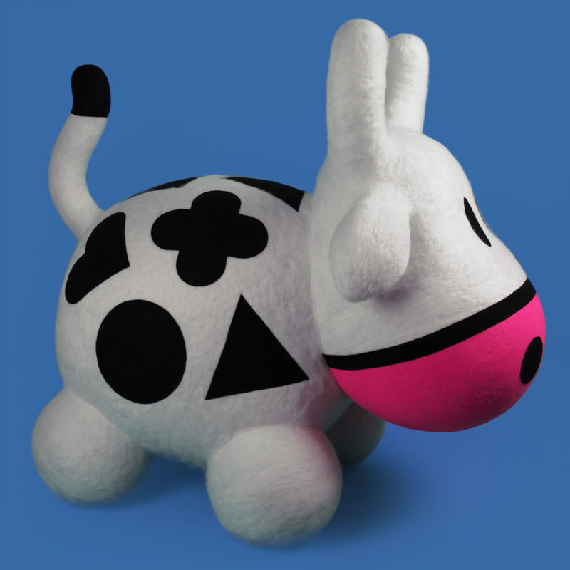 Giant felted Cowly by QuailStudio