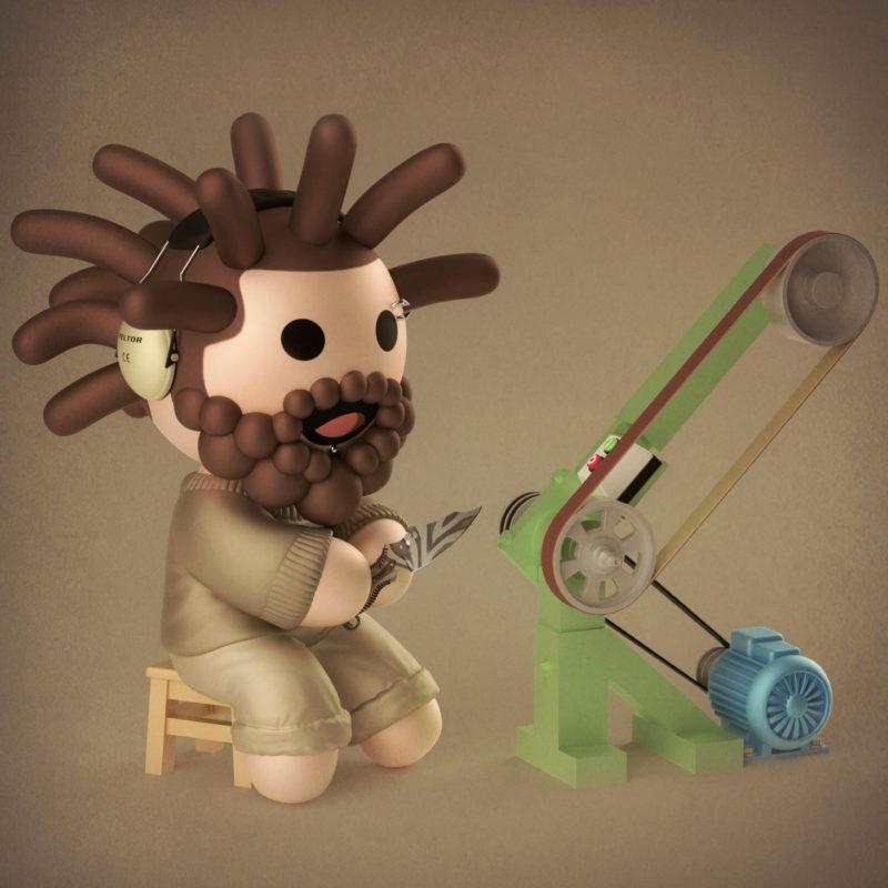 Max the knife maker 3D render by QuailStudio