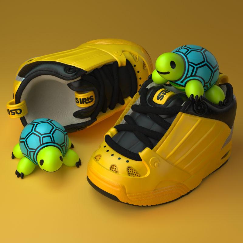Turtly 3D render by QuailStudio
